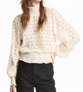 H&M High Neck Ruffled Blouse