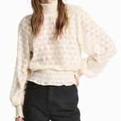 H&M High Neck Ruffled Blouse
