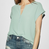 Express Notch Neck Blouse