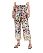 ZARA Combination Printed Cropped Floral Trousers