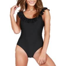 Target Ruffled Shoulder One Piece