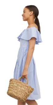 H&M Off the Shoulder Baby Blue Dress