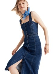 Madewell Denim Covered Button Dress