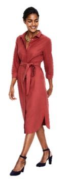 Boden Linen Shirt Dress