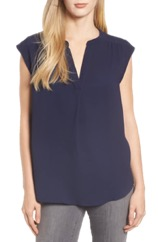 Nordstrom Split Neck Blouse